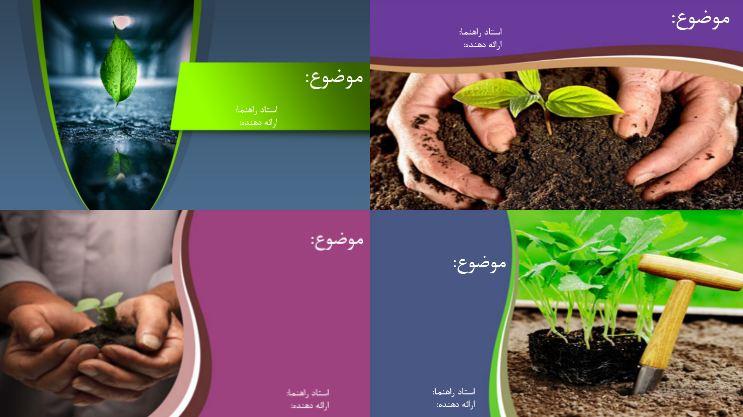 دریافت قالب پاورپوینت زیبا گیاه