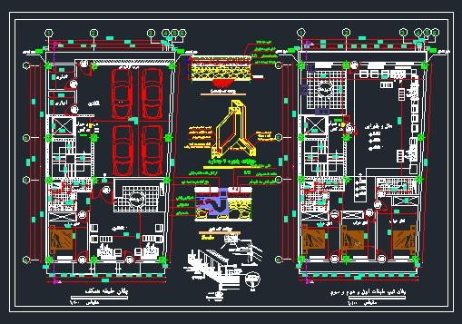 دریافت پلان معماری (۴طبقه بتنی) به ابعاد۱۱٫۵۶*۱۸