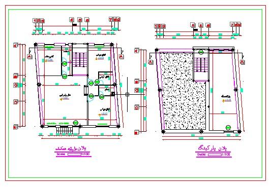دریافت پلان معماری (یک طبقه با بهار خواب) به ابعاد ۱۲٫۰۴*۱۳