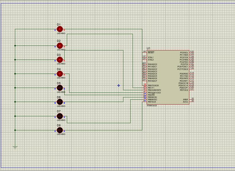 دریافت کدنویسی LEDهای چشمک زن در محیط پروتئوس با زبان C در کدویژن