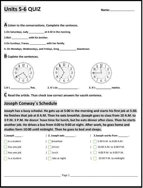 دریافت نمونه سوالات کتاب interchange – درس ۵ و ۶