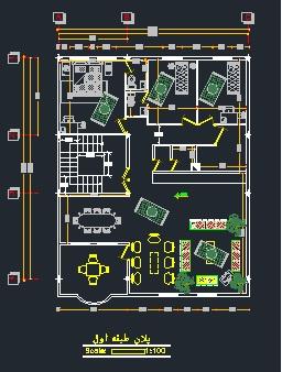 دریافت پلان معماری اسکلت فلزی (۴ طبقه) ابعاد ۱۲*۱۴