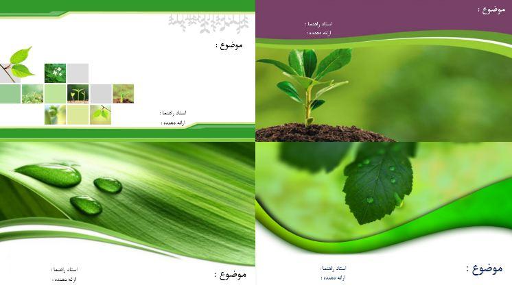 دریافت چهار قالب پاورپوینت آماده گیاهان